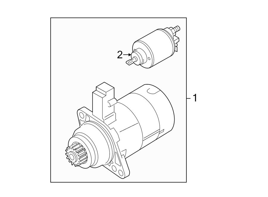 2002 Volkswagen Jetta Starter Motor. Manual, Trans, New