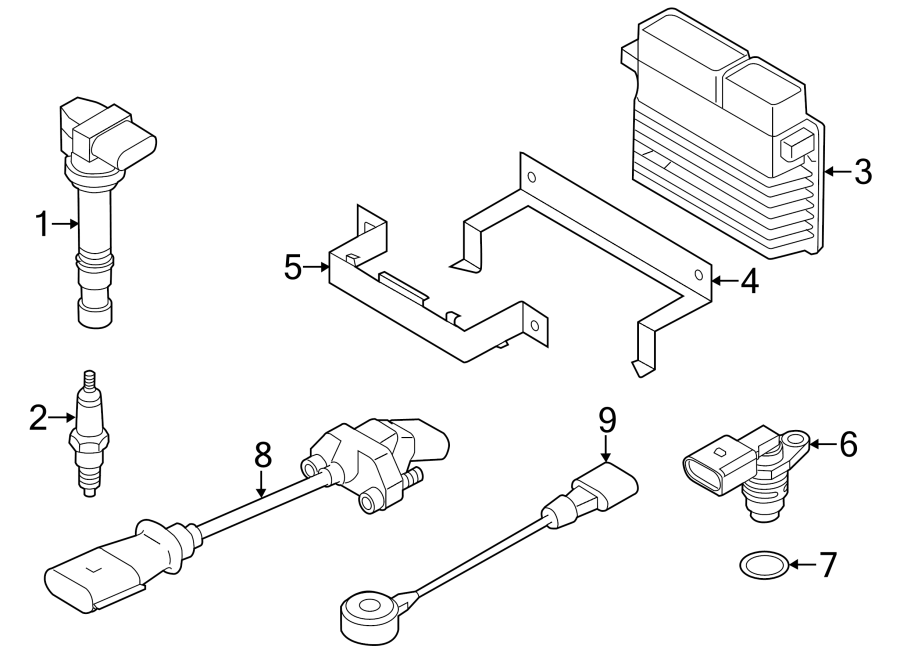 2012 Volkswagen Passat Engine Control Module. Auto, Trans