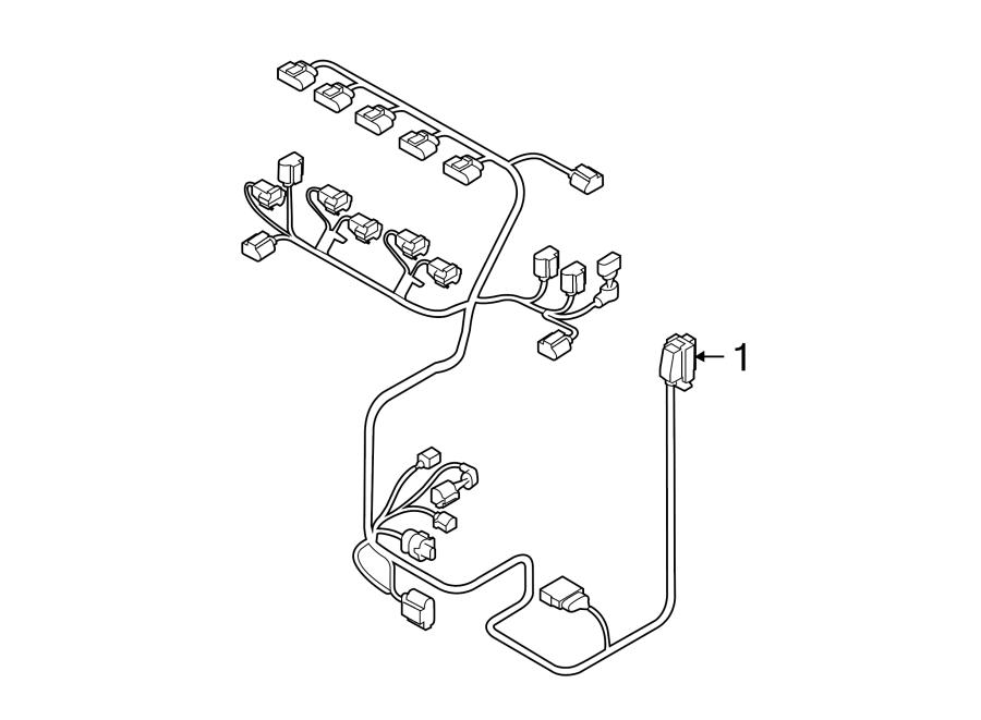 2013 Volkswagen Passat Engine Wiring Harness. Liter