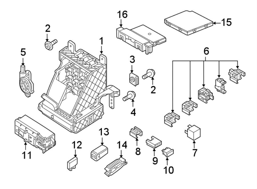 2016 Volkswagen Jetta GLI Circuit breaker. Main fuse. Maxi