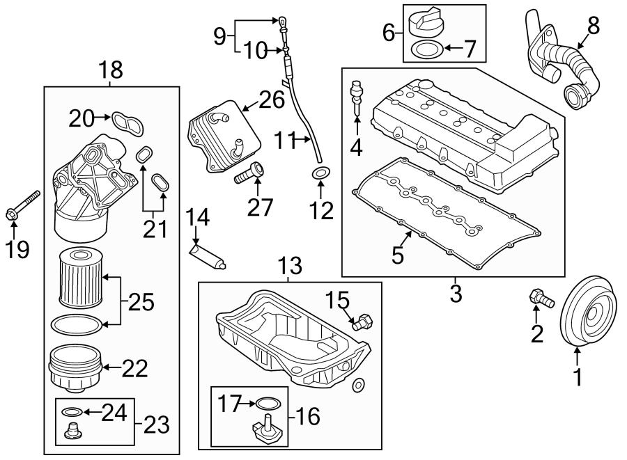 2018 Volkswagen Passat Engine Oil Filter Housing Cover. 3