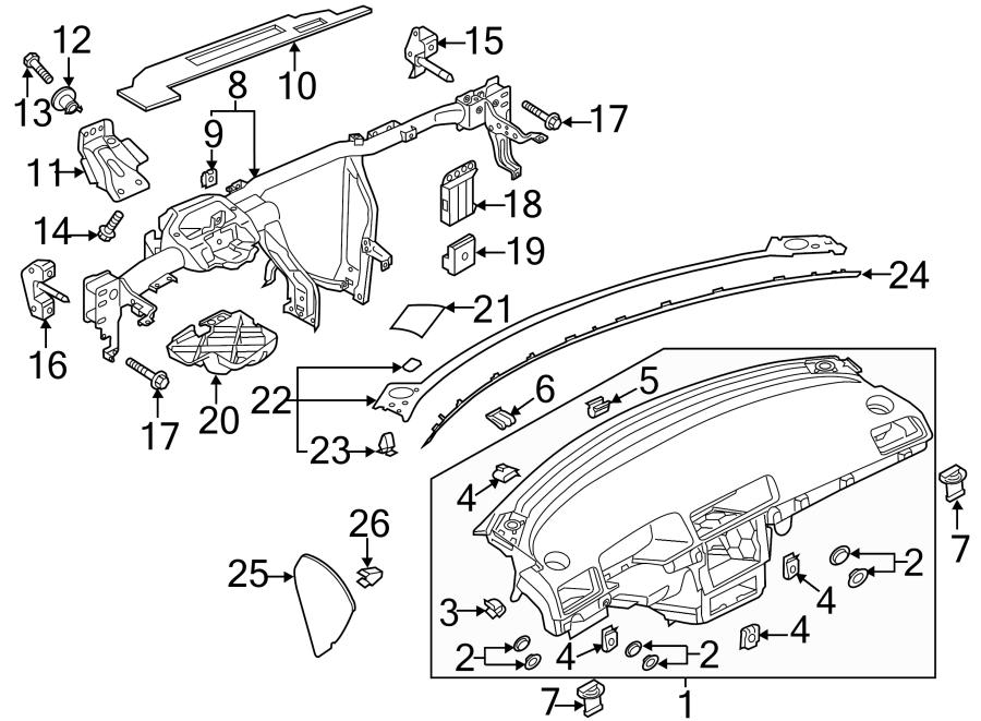 2014 Volkswagen Passat Instrument Panel Side Cover. Beige