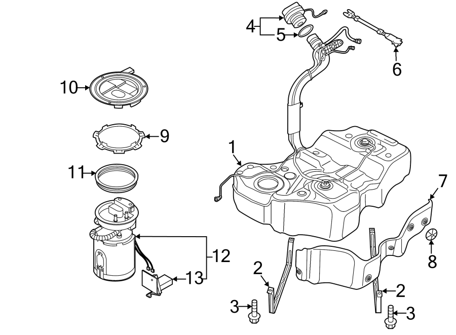 2014 Volkswagen Passat Electric Fuel Pump. Fuel pump