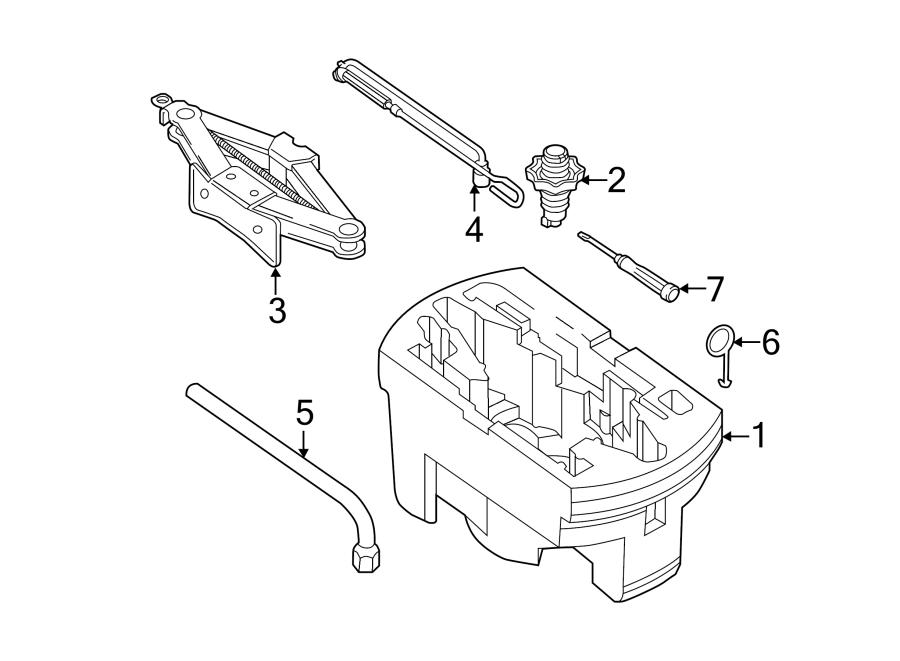2015 Volkswagen Passat Trunk Floor Storage Box (Rear