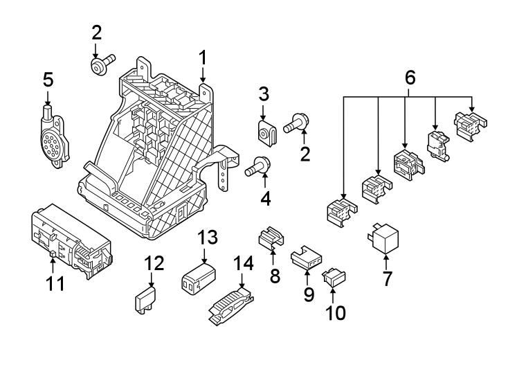 2020 Volkswagen Passat Fuse box main. Holder. PASSENGER