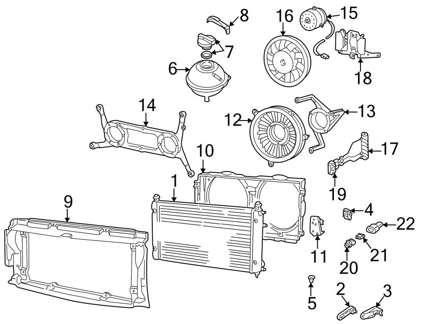 2000 Volkswagen EuroVan Radiator Grommet (Lower). Which