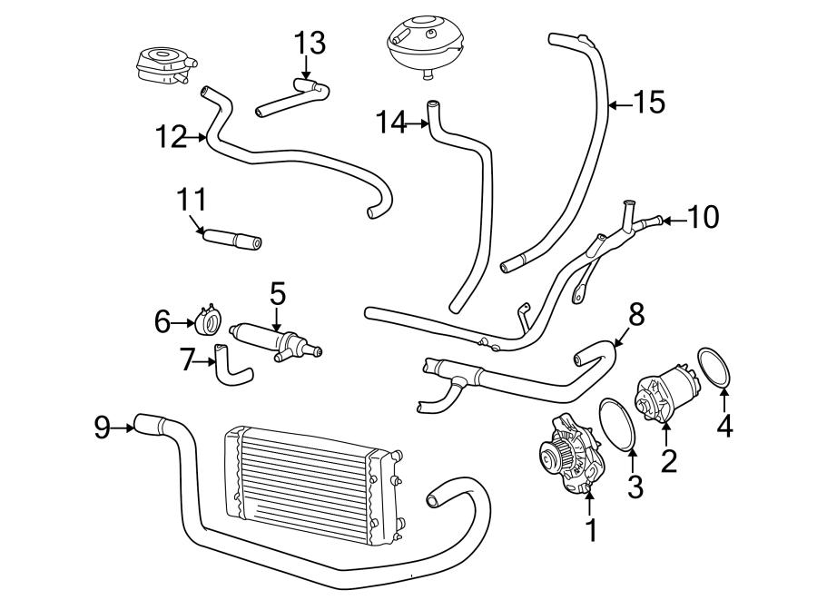 1995 Volkswagen EuroVan Hvac heater hose. Oil cooler to