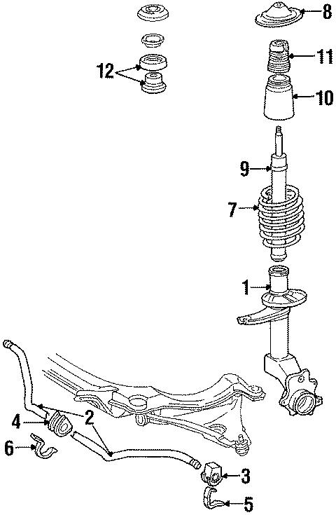 1985 Volkswagen Quantum Suspension Strut Bellows. FRONT