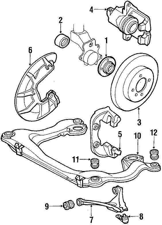 1986 Volkswagen Quantum Suspension Control Arm Bushing