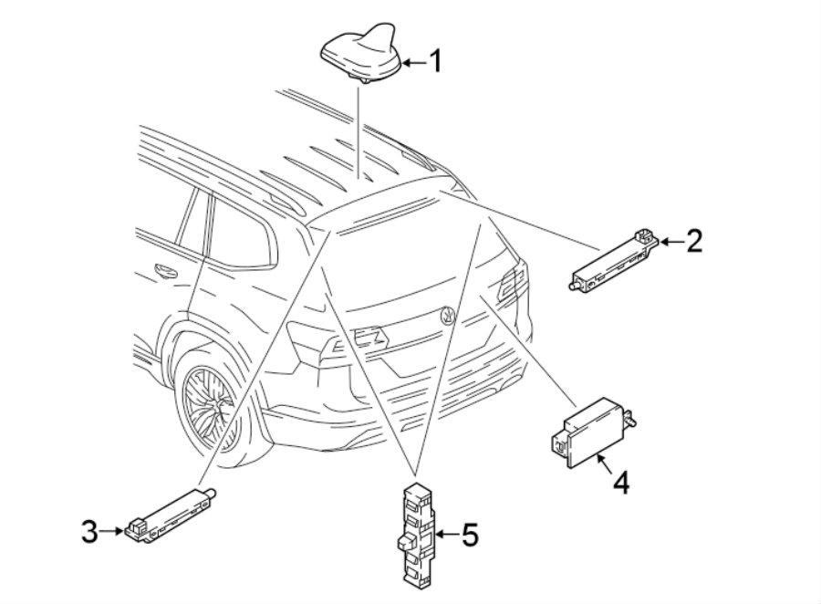 2016 Volkswagen Beetle Convertible Antenna Amplifier