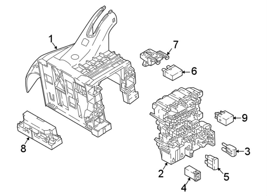 2015 Volkswagen Jetta Circuit breaker. Main fuse. Maxi