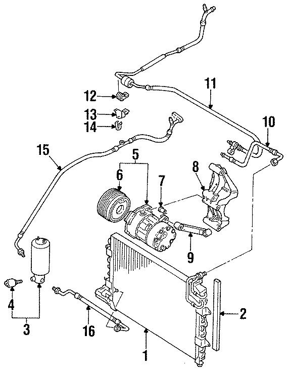 1996 Volkswagen Jetta Air conditioning (a/c) condenser