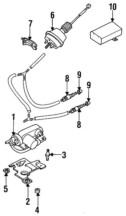 1999 Volkswagen Jetta Cruise Control Vacuum Pump. Actuator