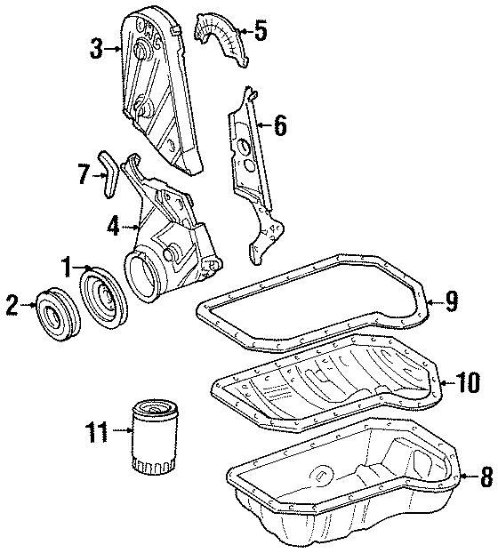 1997 Volkswagen Jetta Engine Crankshaft Pulley. 2.0 LITER