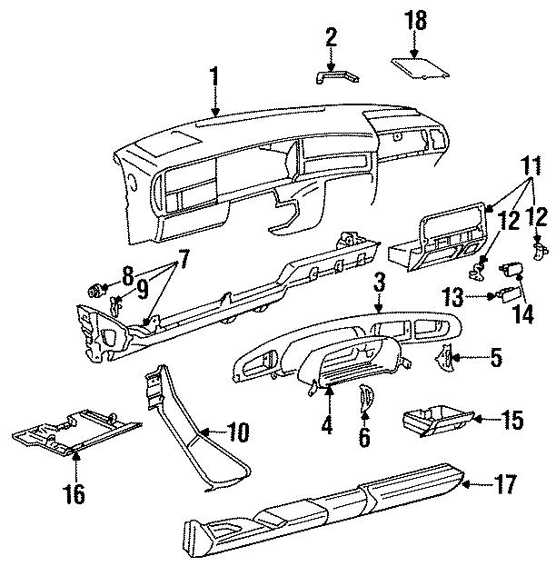 1993 Volkswagen Jetta Instrument Panel Trim Panel. Fuse