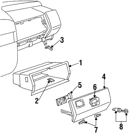 1996 Volkswagen Jetta Lock CYLINDER ASSEMBLY. Rear console