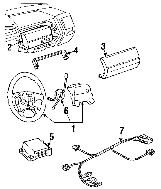 1995 Volkswagen Jetta Instrument Panel Air Bag. Inflator