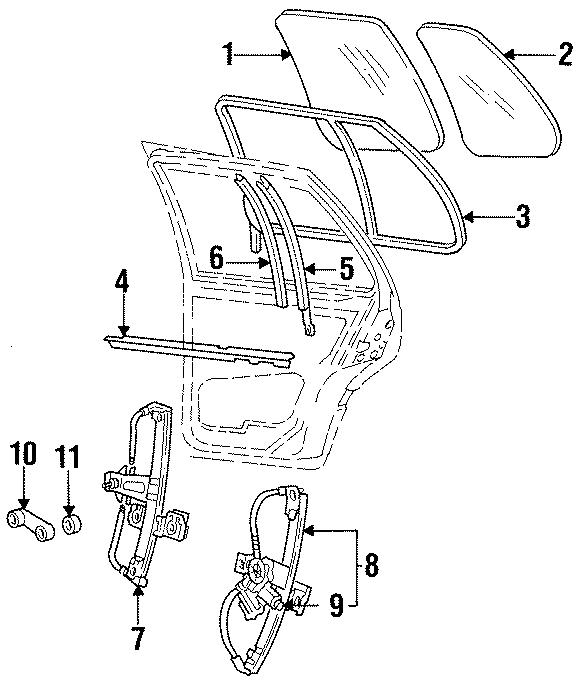 1996 Volkswagen Jetta Regulator. Manual. Module. Drive