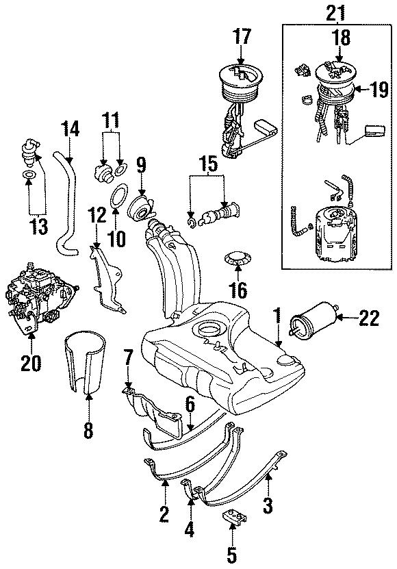 1991 Volkswagen Cabriolet Fuel Filter. Locking, SYSTEM
