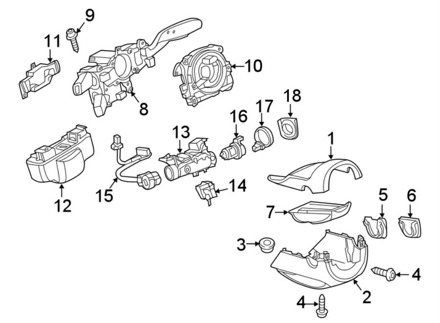 2015 Volkswagen SportWagen Steering Column Cover (Upper