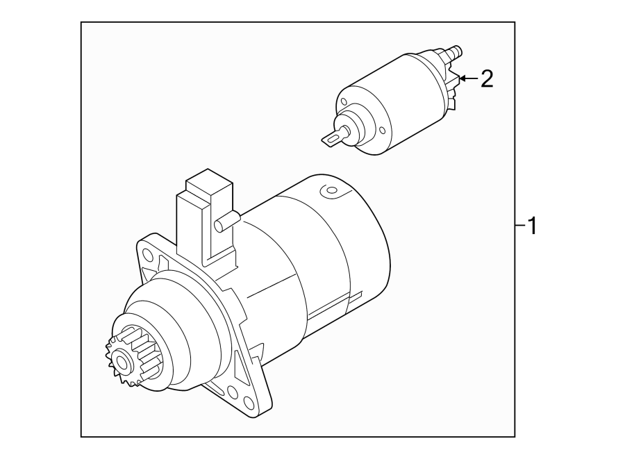2015 Volkswagen Golf Starter Motor. 2.0 Kw. LITER, Trans