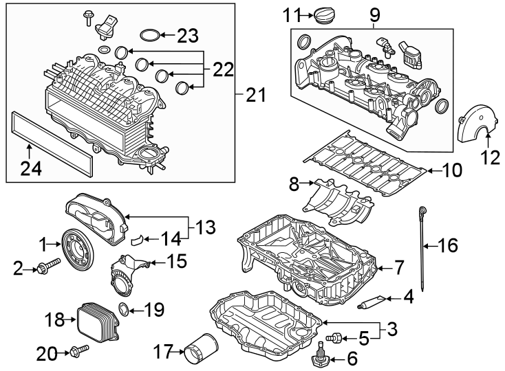 2019 Volkswagen Golf Engine Valve Cover Gasket. LITER
