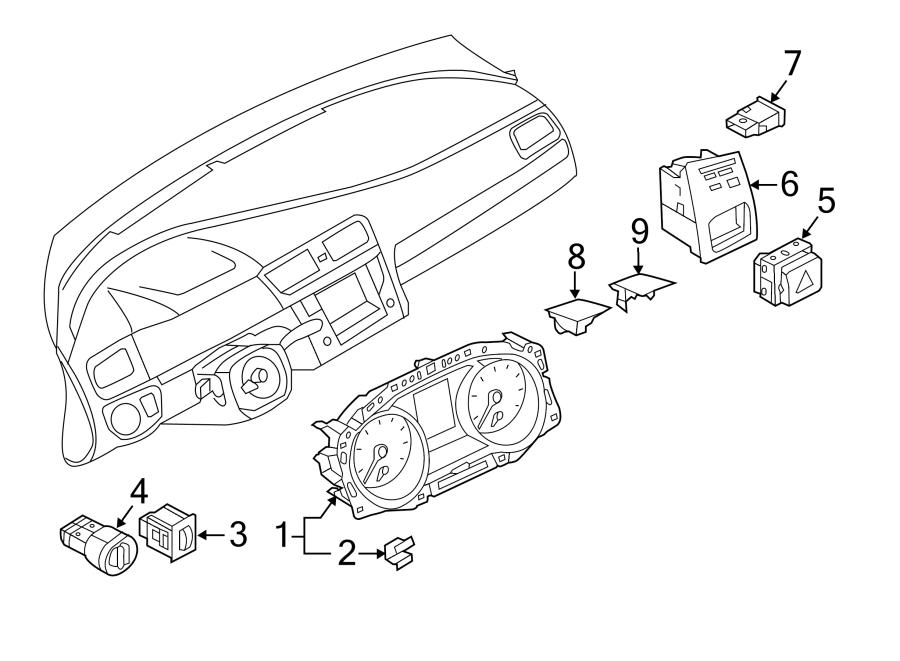2017 Volkswagen Golf R Headlight Dimmer Switch. Headlight