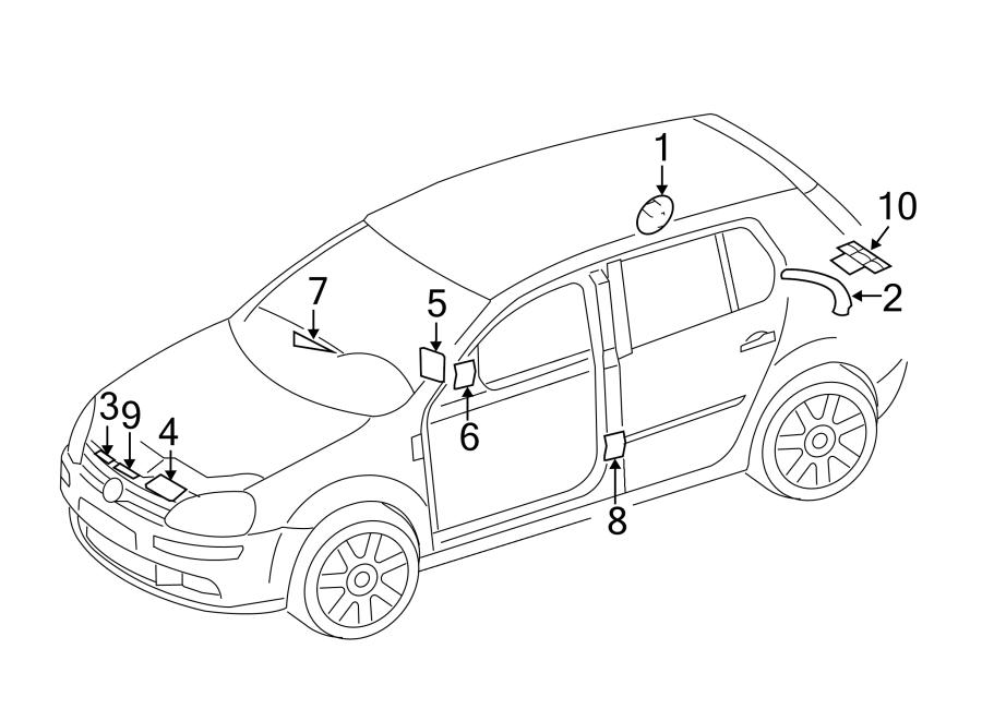 2003 Volkswagen Golf Fuel Information Label. 2.0 liter
