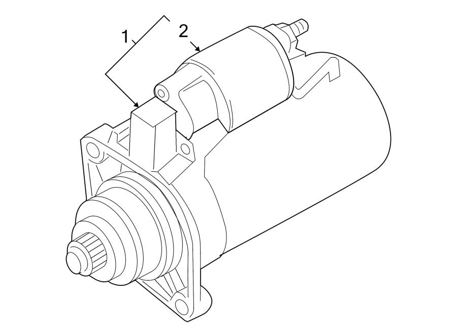 2013 Volkswagen Golf Starter Motor. 2.0 Kw. Trans, Manual