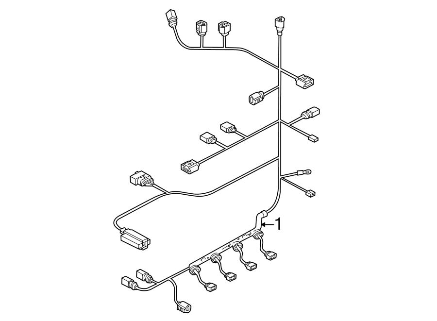 2012 Volkswagen Golf R Engine harness. Engine Wiring