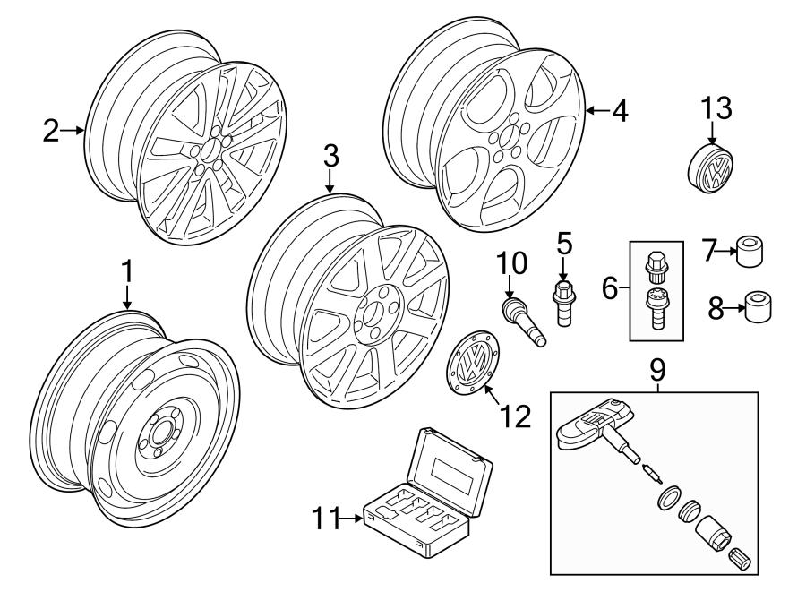 2003 Volkswagen Beetle Alloy Wheel Center Cap. Alloy