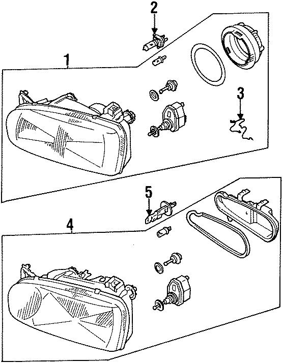 1997 Volkswagen Golf Headlight Retaining Ring (Lower