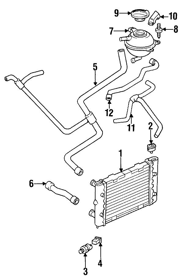 1998 Volkswagen Golf Engine Coolant Fan Temperature Switch