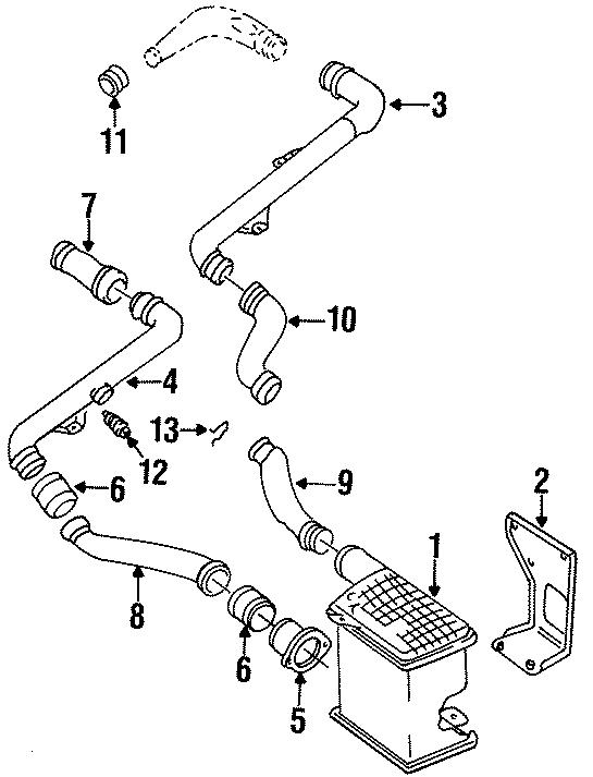 1997 Volkswagen Golf Air hose. 4 CYLINDER, 1.9 LITER TURBO