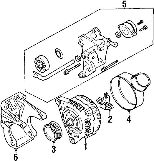 1999 Volkswagen Golf Alternator. 120 Amp. New, Valeo