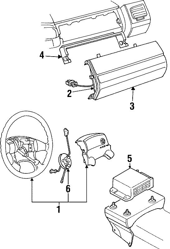 1996 Volkswagen Golf Air bag door. Psngr air bag cover