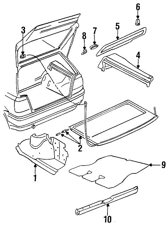 1997 Volkswagen Golf Trim panel nut. Expanding. BODY