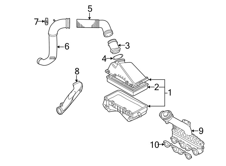 2004 Volkswagen Passat Engine Intake Manifold Gasket. AIR