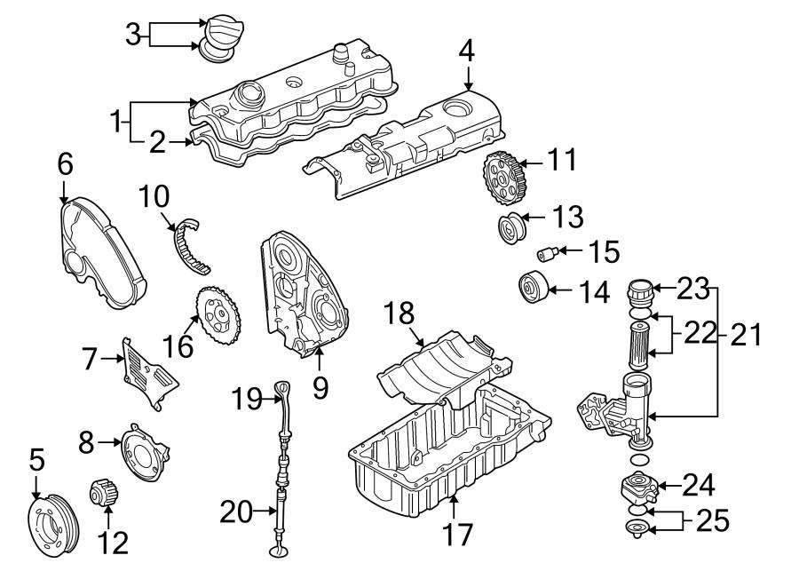 2003 Volkswagen Golf Engine Oil Filter Element. FILTERELEM