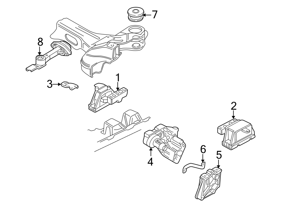 2001 Volkswagen Golf Automatic Transmission Mount Bracket