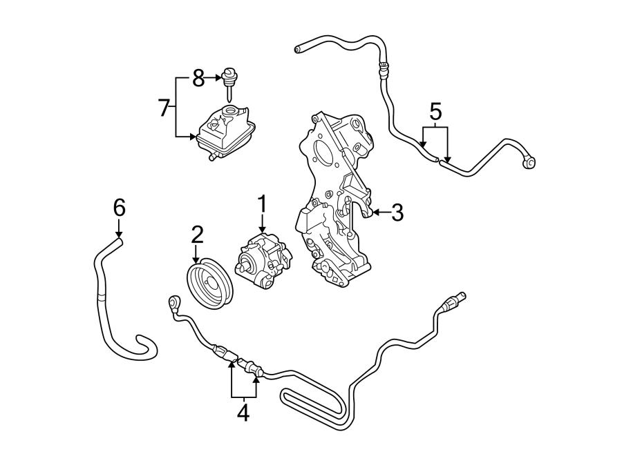 2000 Volkswagen Golf Power Steering Return Hose. Trans
