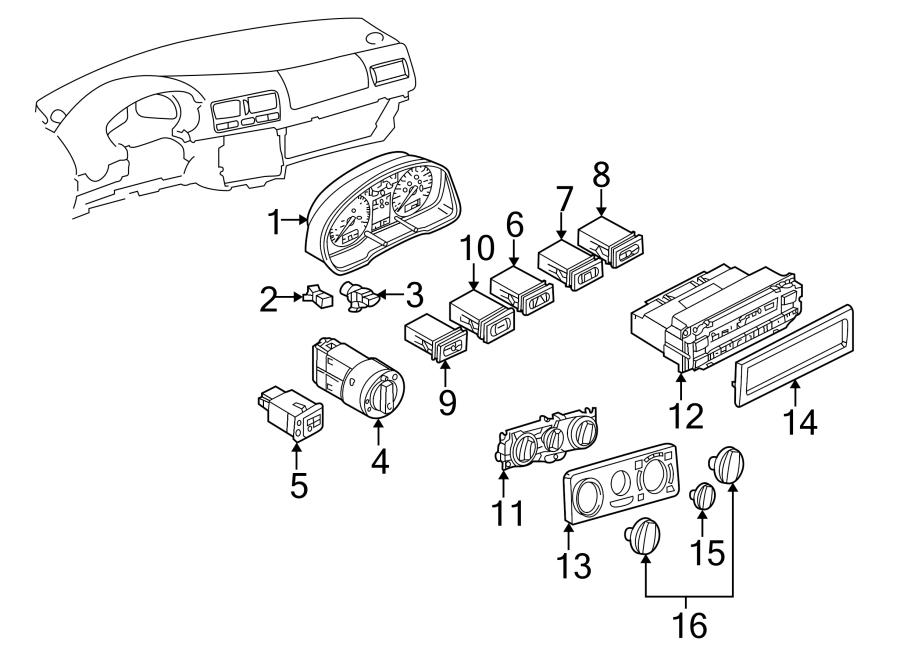 2006 Volkswagen GTI Defroster Switch. 1999-01. 2002-06