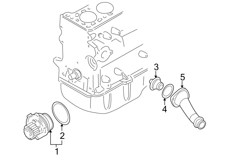 2001 Volkswagen Golf Engine Coolant Thermostat Gasket