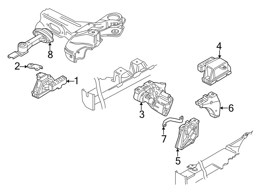 2002 Volkswagen Golf Mount. Gear. Replacement Motor