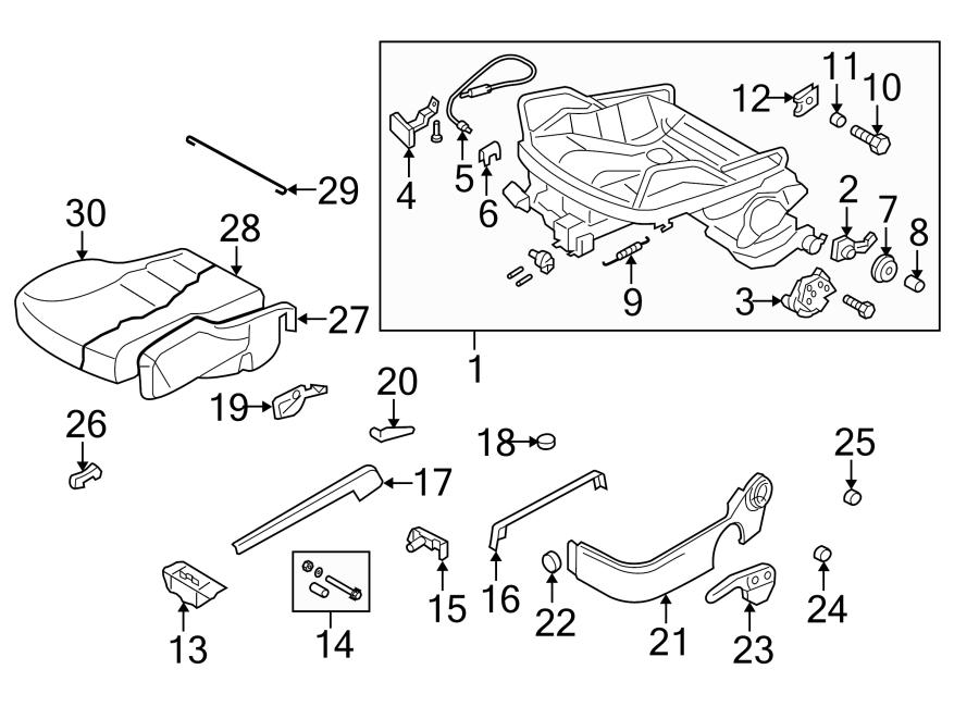 2004 Volkswagen Golf Seat Wire. CUSHION, ComponentS, DOOR