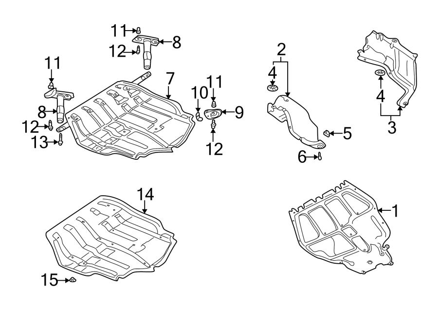 2003 Volkswagen Jetta Radiator Support Splash Shield