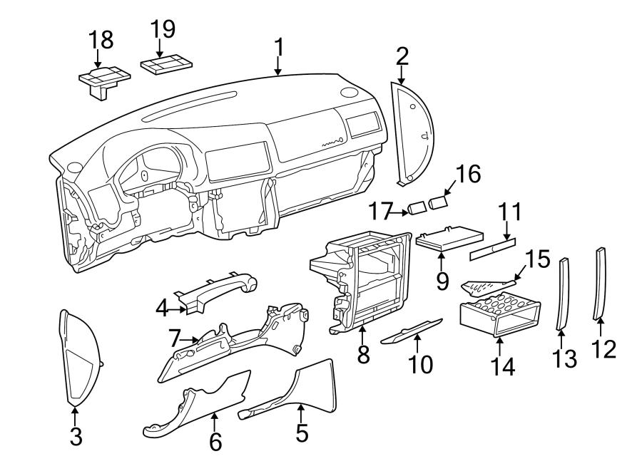 2003 Volkswagen Jetta GLI Instrument Panel Trim Panel