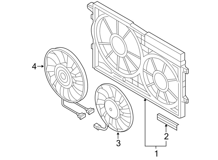 2006 Volkswagen Jetta Engine Cooling Fan Motor. Temic