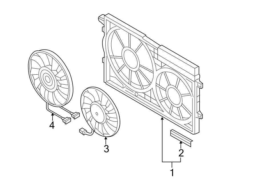 2009 Volkswagen Jetta Engine Cooling Fan Motor. Left