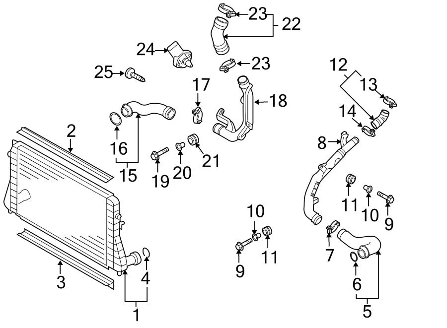 2013 Volkswagen SportWagen Turbocharger Intercooler Pipe